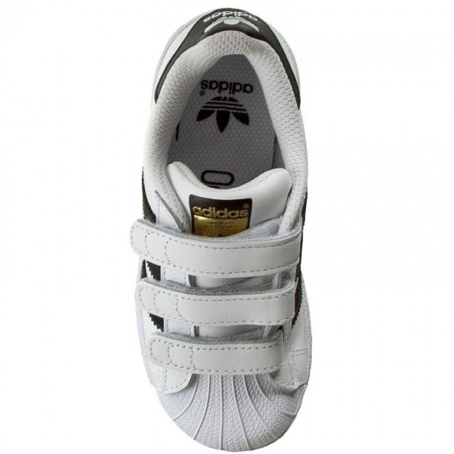 Topánky adidas - Superstar Foundation CF C B26070 Ftwwht Cblack Ftwwht - Na  suchý zips - Poltopánky - Diavča - Detské - www.eobuv.sk 0515727cbd0
