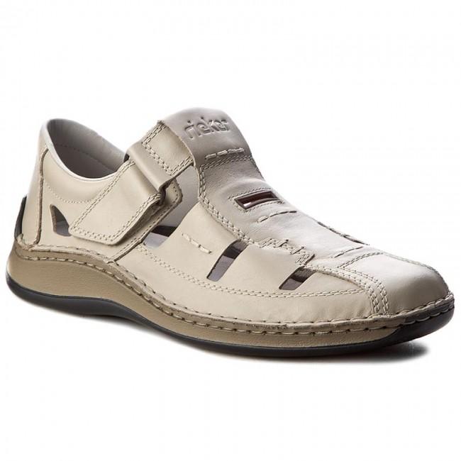 884e0a583e98 Poltopánky RIEKER - 05284-60 Beige - Sandále - Šľapky a sandále ...
