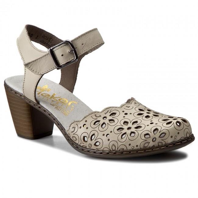 3d792e64e975 Sandále RIEKER - 40953-80 Weiss - Sandále na každodenné nosenie ...
