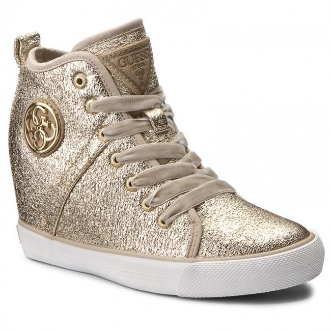 Sneakersy GUESS - Jilly FLJLL3 LEL12 GOLD - Sneakersy - Poltopánky ... 1775bad866d