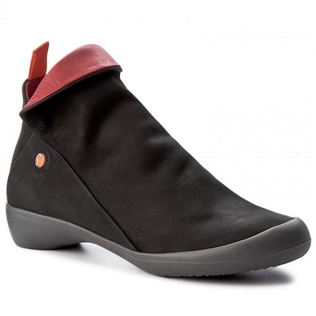 8d948ccd9ca Členková obuv SOFTINOS - Farah P900085532 Black Red - Kotníková obuv ...