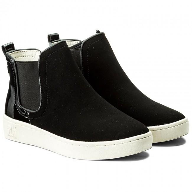 Kotníková obuv s elastickým prvkom FLY LONDON - Mabsfly P143832012  Black Black - Kotníková obuv s elastickým prvkom - Čižmy a iné - Dámske -  www.eobuv.sk 4db8335521f