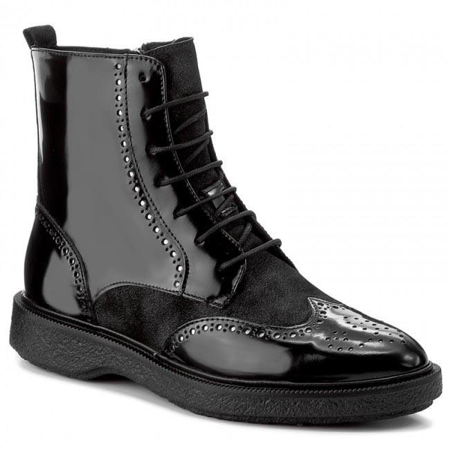 2716e53e483 Členková obuv GEOX - D Prestyn A D745WA 038PV C9999 Black ...