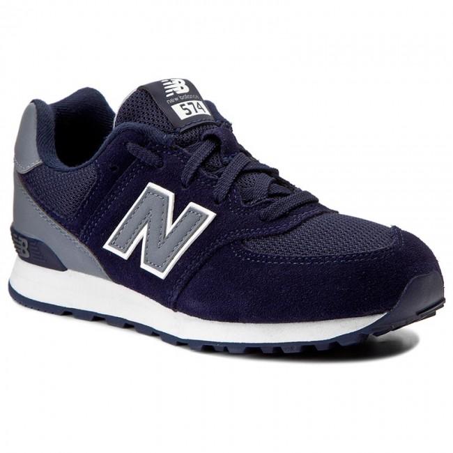 ac0280afcd8 Sneakersy NEW BALANCE - KL574CWP Tmavo modrá - Obuv na šnurovanie ...