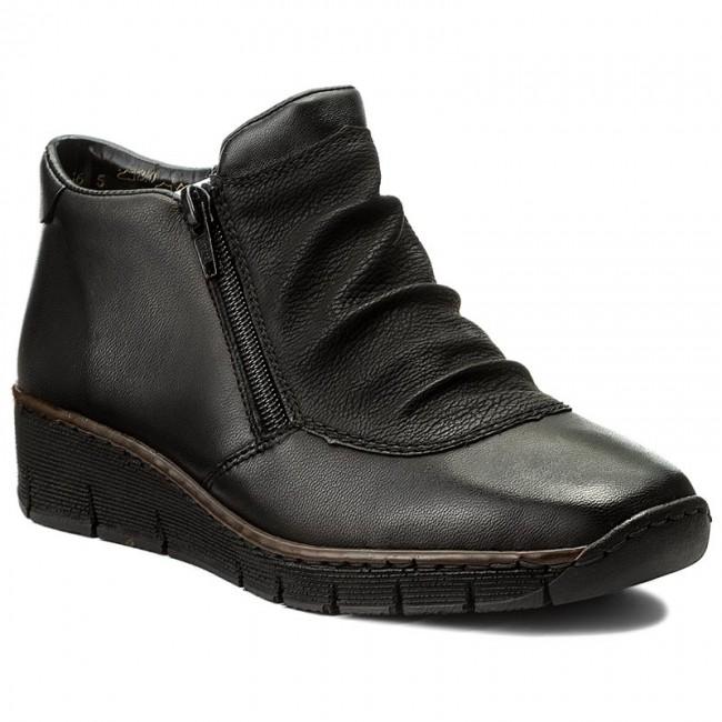bd468e2eb3 Členková obuv RIEKER - 53742-00 Black 1 - Kotníková obuv - Čižmy a ...