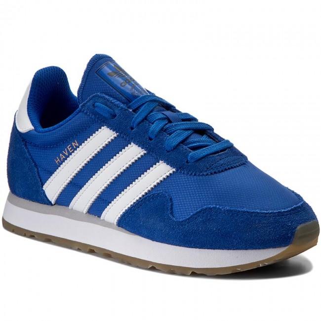 Topánky adidas Haven J BY9480 Bleu Ftwwht Ftwwht Basketsy