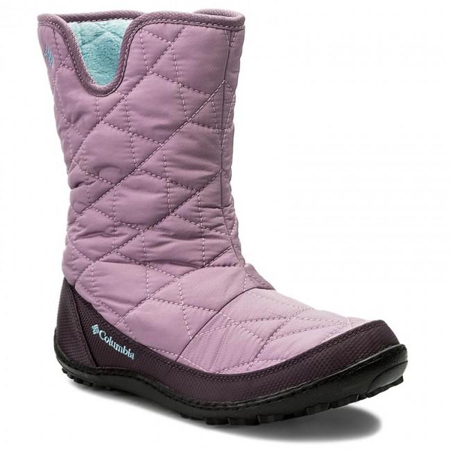 Snehule COLUMBIA - Youth Minx Slip Omni-Heat Waterproof BY1329 Violet  Haze Oxygen 541 7e8db5e04c