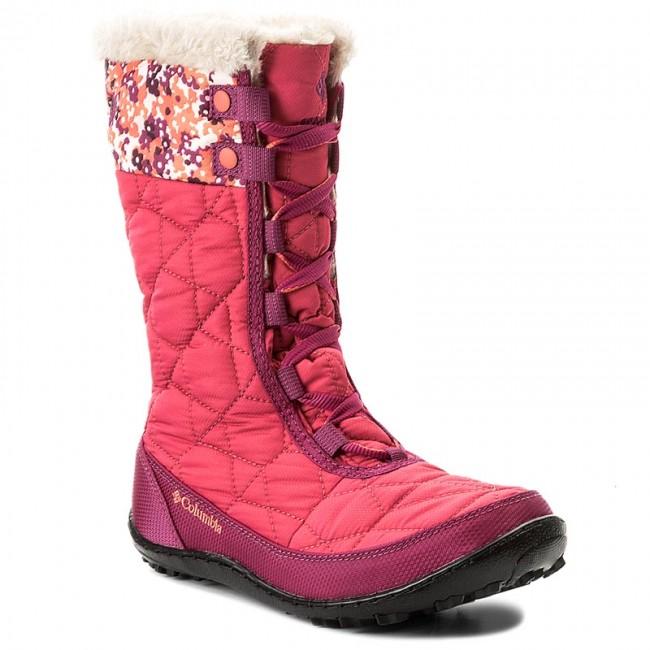 Snehule COLUMBIA - Youth Minx Mid II Waterproof Omni-Heat BY1336 Punch Pink  Corange f07d48ac2f