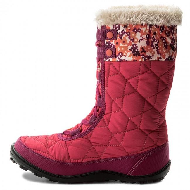 Snehule COLUMBIA - Youth Minx Mid II Waterproof Omni-Heat BY1336 Punch Pink Corange  637 - Outdoorová obuv - Čižmy a iné - Diavča - Detské - www.eobuv.sk 643edd71a7