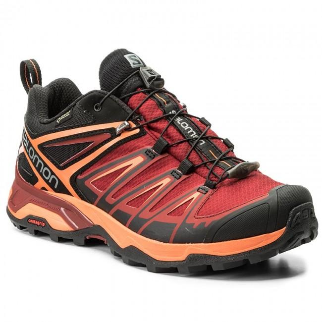 34aa2bc4bac Trekingová obuv SALOMON - X Ultra 3 Gtx GORE-TEX 398670 Black Red Dalhia