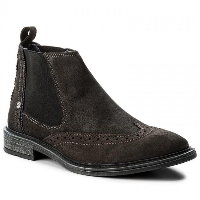 ed360beaaf199 Kotníková obuv s elastickým prvkom WRANGLER - Roll Chelsea Brogue WM172060  Anthracite 96