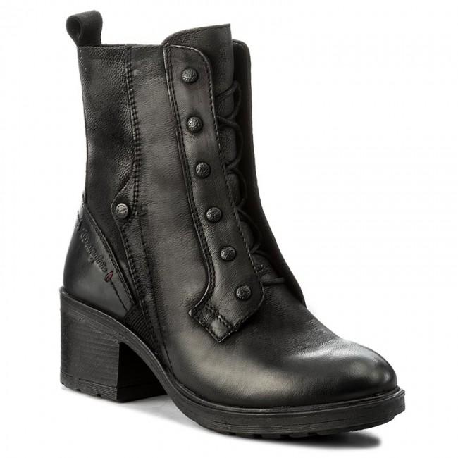Členková obuv WRANGLER - Vail Lace WL172535 Black 62 - Kotníková ... 203f7a0399e