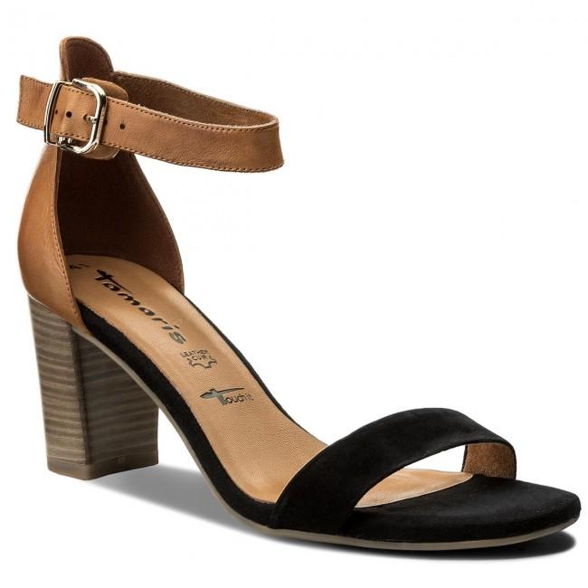 Sandále TAMARIS - 1-28382-20 Black Nut 033 - Sandále na každodenné ... eb6507c9d56