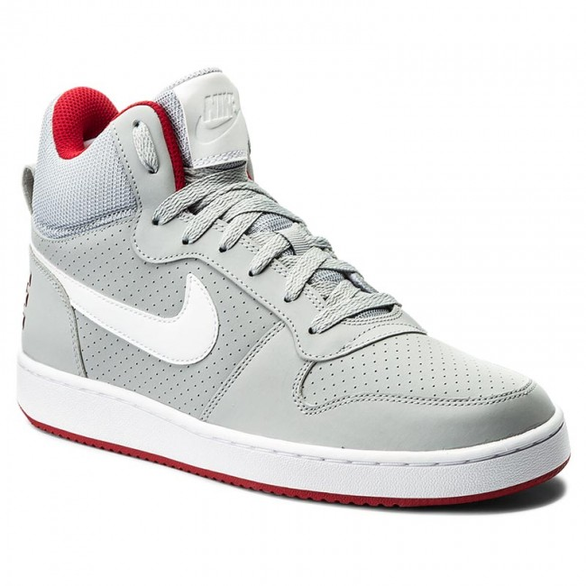 Topánky NIKE - Court Borough Mid 838938 002 Wolf Grey White Gym Red ... 6ef509fc882