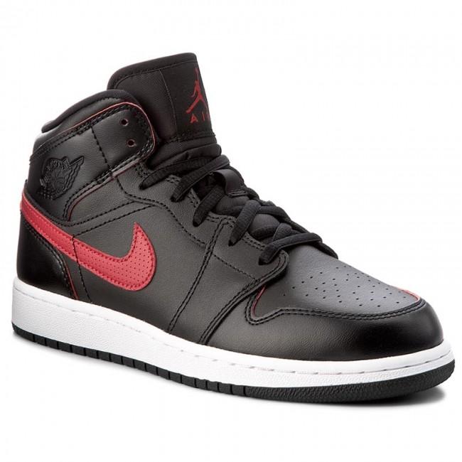 Topánky NIKE - Air Jordan 1 Mid Bg 554725 009 Black Gym Red Gym Red ... b57d0391c2