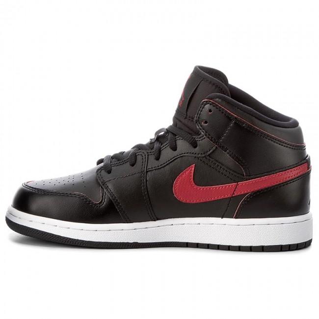 Topánky NIKE - Air Jordan 1 Mid Bg 554725 009 Black Gym Red Gym Red White -  Obuv na šnurovanie - Poltopánky - Chlapec - Detské - www.eobuv.sk fc48cbcb98