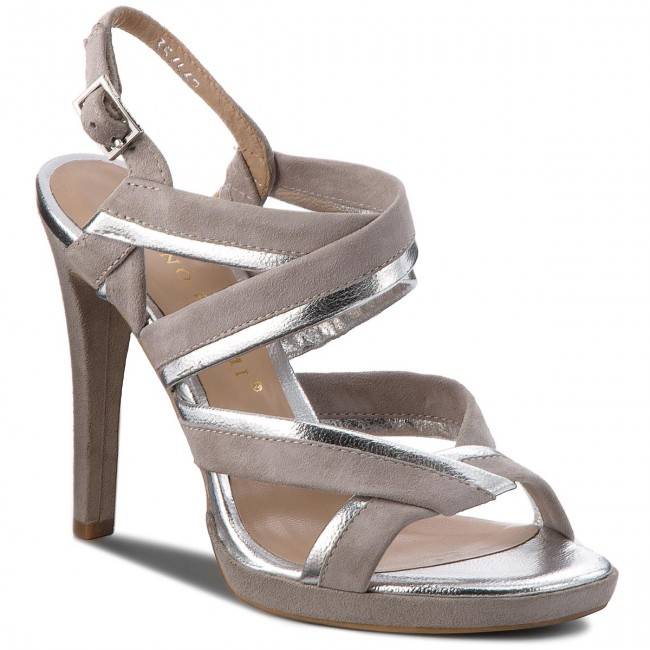 8f9e0ec424b6 Sandále BRUNO PREMI - Laminato + Camoscio R3501N Argento Perla ...