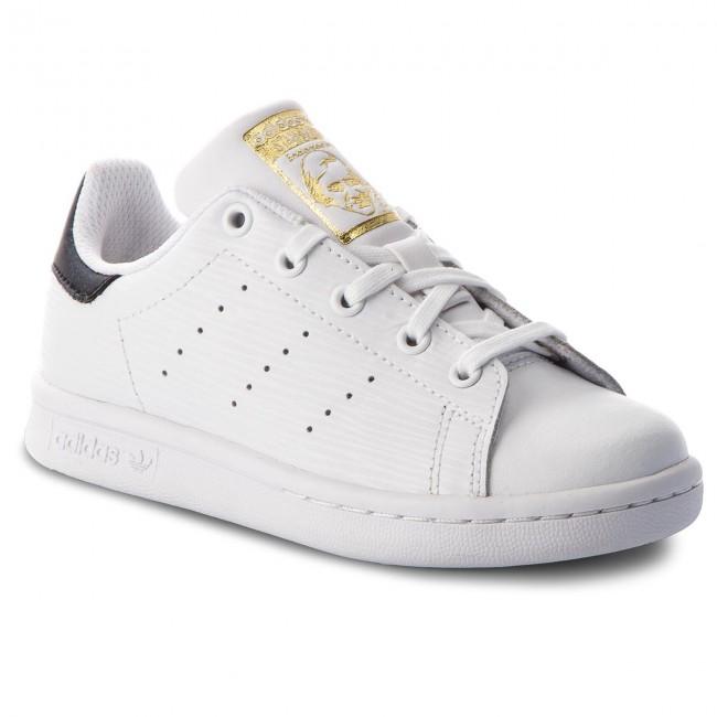 8e15697419 Topánky adidas - Stan Smith C CM8178 Ftwwht Ftwwht Goldmt - Obuv na ...