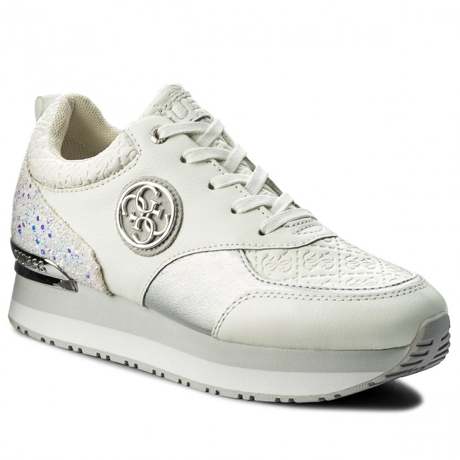 bfc82ab5bc Sneakersy GUESS - Rimma FLRMM1 LEA12 WHITE - Sneakersy - Poltopánky ...