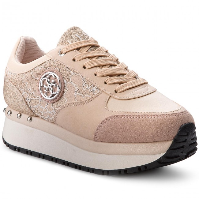 a3cc7c06d2 Sneakersy GUESS - Tiffany FLTIF1 LAC12 NUDE - Sneakersy - Poltopánky ...