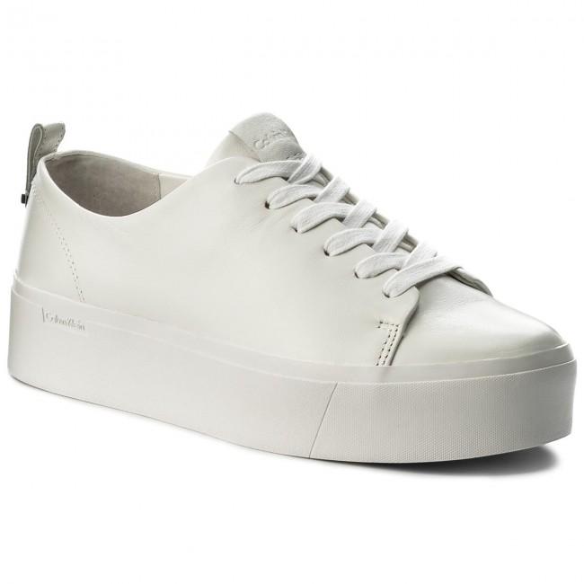 Sneakersy CALVIN KLEIN - Janet Nappa E6539 Platinum White ... a812ab6b6d3