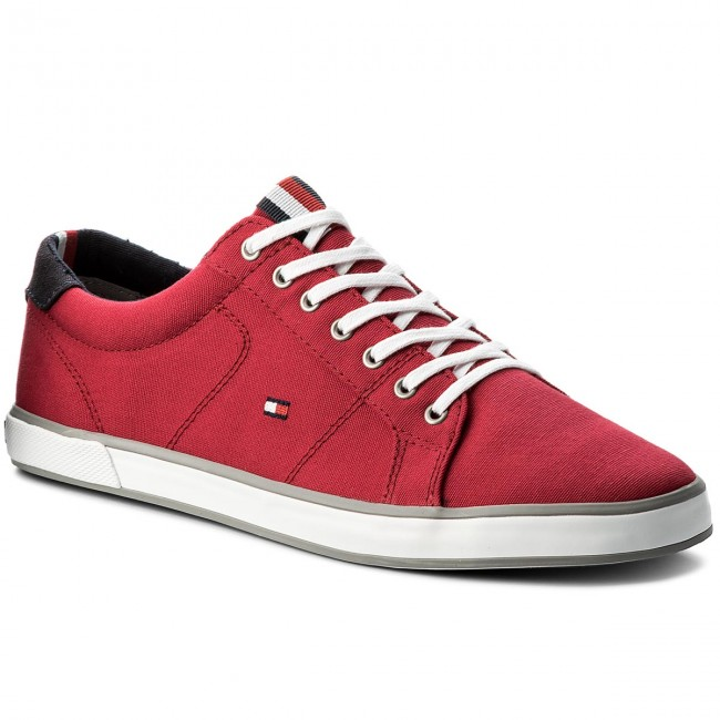 bfd642af61e0 Tenisky TOMMY HILFIGER - Iconic Long Lace Sneaker FM0FM01536 Tango Red 611