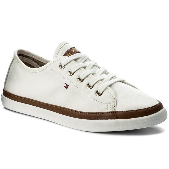 16ab2ab557 Tenisky TOMMY HILFIGER - Iconic Kesha Sneaker FW0FW02823 Whisper White 121
