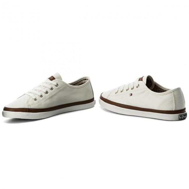 a7602ae683 Tenisky TOMMY HILFIGER - Iconic Kesha Sneaker FW0FW02823 Whisper White 121