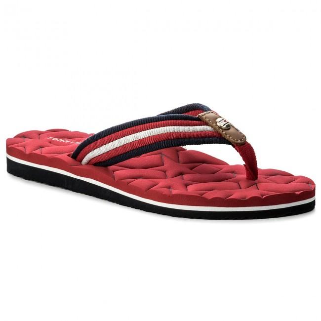 Žabky TOMMY HILFIGER - Comfort Low Beach Sandal FW0FW02368 Tango Red ... 5745234bdf