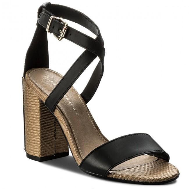 870f6df847d8 Sandále TOMMY HILFIGER - Feminine Heel Sandal Star Stud FW0FW02235 Black 990