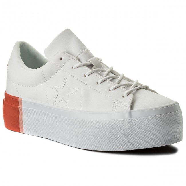 Sneakersy CONVERSE - One Star Platform Ox 559904C White Bright Poppy ... 6233f18d10