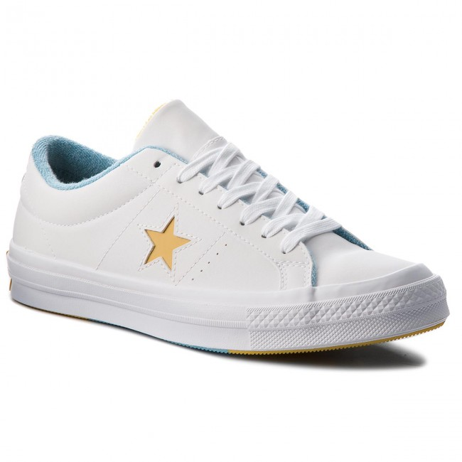680e051aab704 Tenisky CONVERSE - One Star Ox 160593C White/Mineral Yelow/Shoreline ...