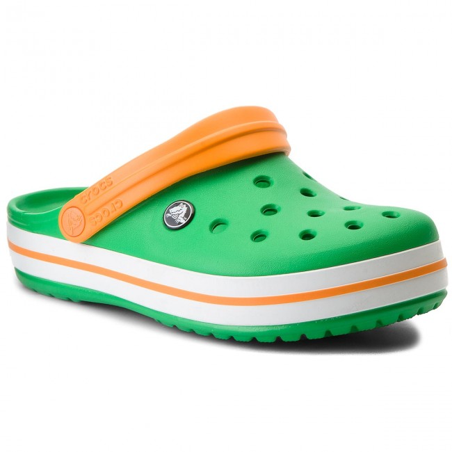 Šľapky CROCS - Crocband 11016 Grass Green White Blazing Orange ... 933f1dddfdc