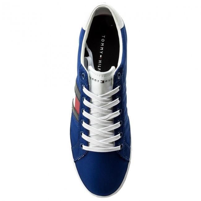 Tenisky TOMMY HILFIGER - Essential Flag Detail Sneaker FM0FM01535 Monaco  Blue 408 - Plátenky a tenisky - Poltopánky - Pánske - www.eobuv.sk 527a6f56714