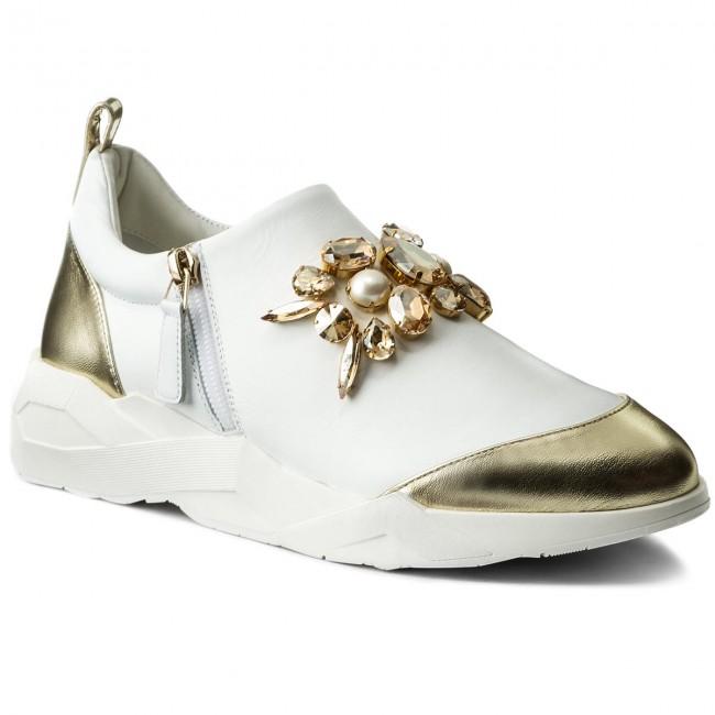 e8a08b4d752b Sneakersy LORIBLU - 8E A83306 AA Nappa Oro Agnell.Bianco S ...