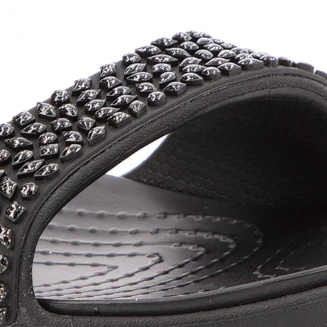 34c87e865f Šľapky CROCS - Cleo V Diamante Sandal W 205102 Black Black - Šľapky ...