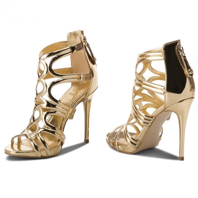 Sandále GUESS - Teigan2 FLTE22 LEL03 GOLD - Elegantné sandále ... 9d01c7a3ea4