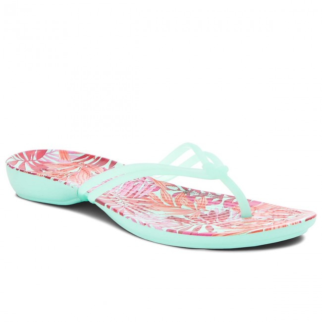 Žabky CROCS - Isabella Graphic Flip W 204196 New Mint Tropical ... cbf8aa59fa