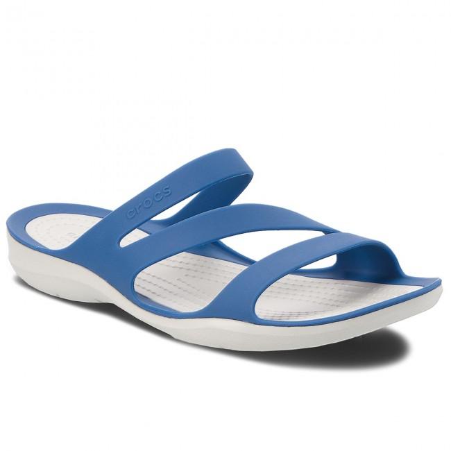 1957552f145e2 Šľapky CROCS - Swiftwater Sandal W 203998 Blue Jean/Pearl White ...