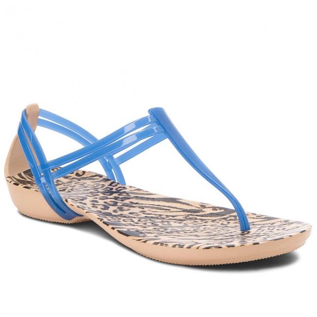 9638f2a74ff9b Sandále CROCS - Isabella Graphic T-Strap 204859 Blue Jean/Animal ...