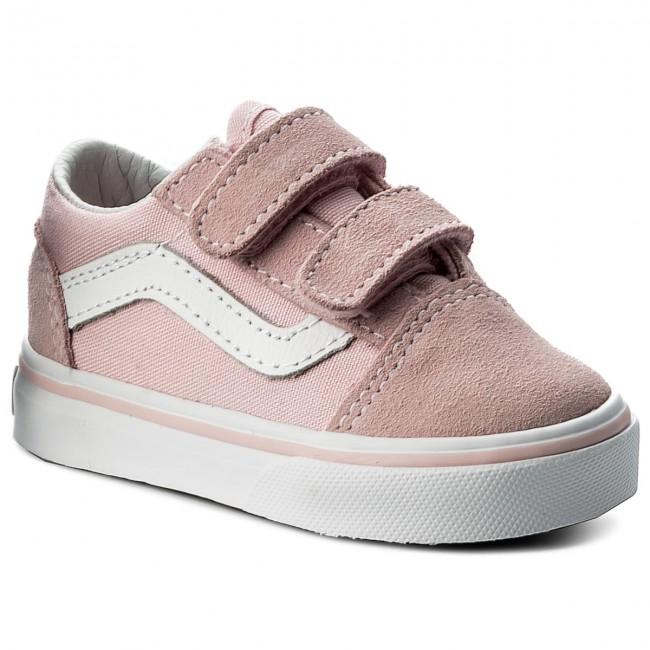 Tenisky VANS - Old Skool V VN0A344KQ7K (Suede Canvas) Chalk Pink ... 22e023614f9