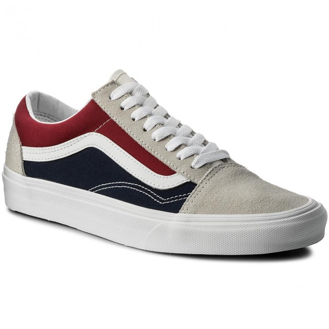 Tenisky VANS - Old Skool VN0A38G1QKN (Retro Block) White Red D ... b913cbb087e