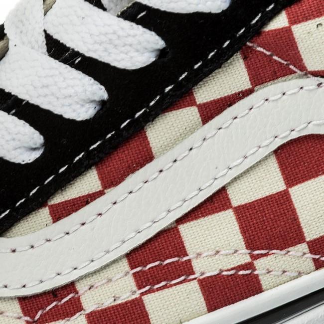 Tenisky VANS - Old Skool VN0A38HB35U (Checkerboard) Black Red - Obuv ... df6c8ac498b