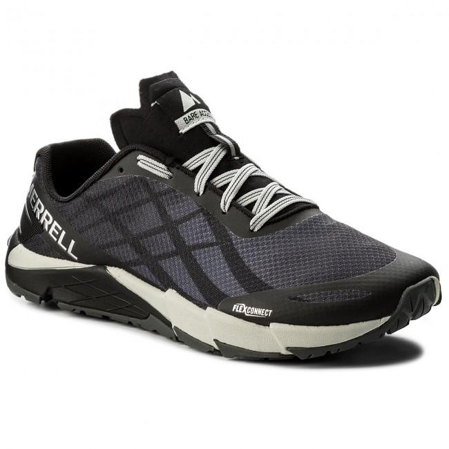 Topánky MERRELL - Bare Access Flex J09657 Black Silver - Trekingová ... f5334b7e492