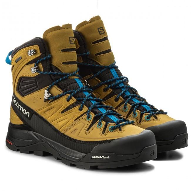 Trekingová obuv SALOMON - X Alp High Ltr Gtx GORE-TEX 400137 29  Black Honey Indigo Buntig - Outdoorové topánky - Čižmy a iné - Pánske -  www.eobuv.sk 882fbaa276f