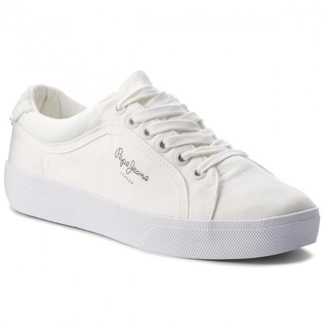 Tenisky PEPE JEANS - Rene Skate PLS30634 White 800 - Plátenky a ... 3033277b9c2