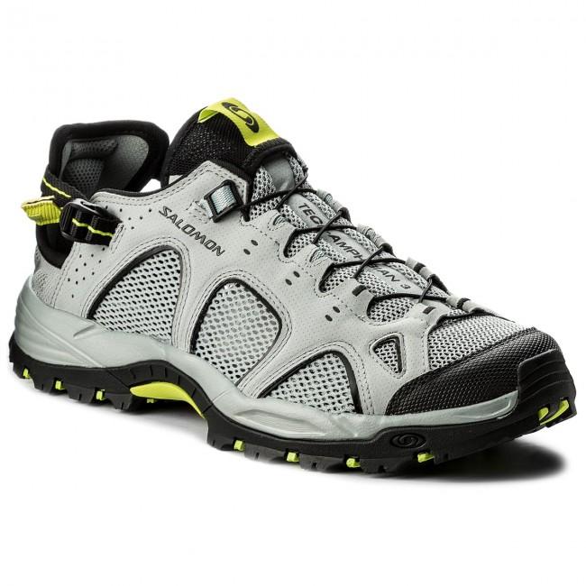 16221a9363c6 Trekingová obuv SALOMON - Techamphibian 3 401596 29 M0 Quarry Black Acid  Lime
