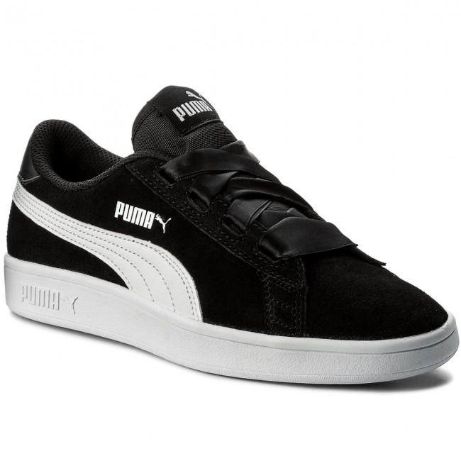 Sneakersy PUMA - Smash V2 Ribbon Jr 366003 01 Puma Black Puma White ... f7bdb11f8