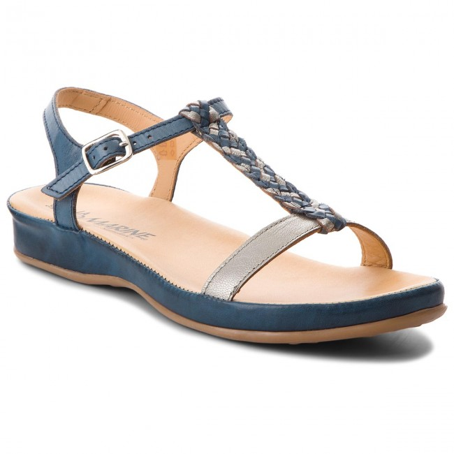 Sandále LA MARINE - Ariane Blue Silver - Sandále na každodenné ... 873099a6609