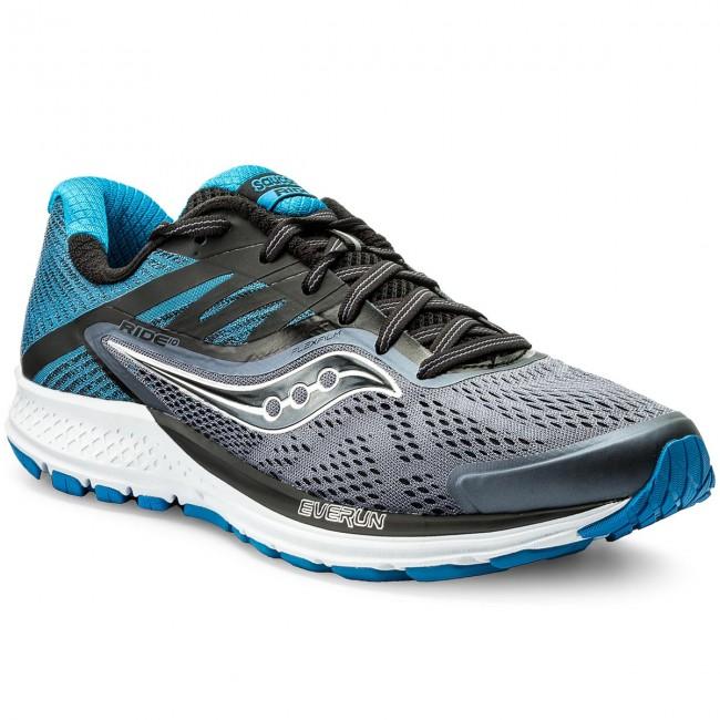 Topánky SAUCONY - Ride 10 S20373-8 Gry Blk Blu - Treningová obuv ... f918864f395